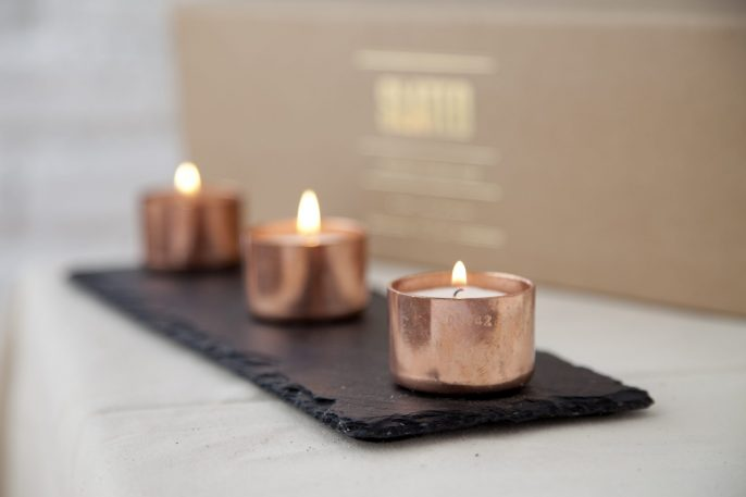 Slate, candle, trio, tealight, wedding gift, wedding, housewarming gift, wedding gift, wedding, slated, slatedireland